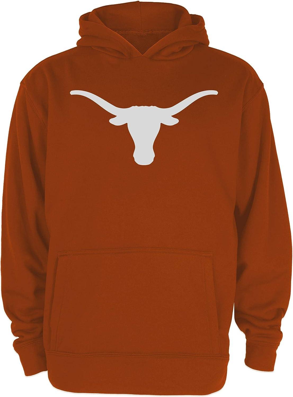 Medium University of Texas Authentic Apparel NCAA Texas Longhorns Youth Silhouette Poly Hoody Burnt Orange