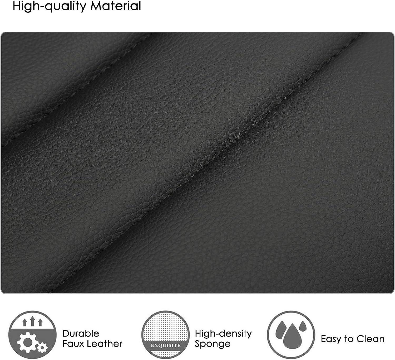 IntimaTe WM Heart 2 x Sgabelli da Bar per Cucina sedie Moderni 360 /° Regolabile Girevole Sgabello da Bar con Schienale in Pelle PU,Moderno Bianco