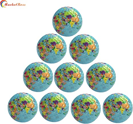 marketboss 10pcs mundo tierra globo pelota de Golf doble capa ...