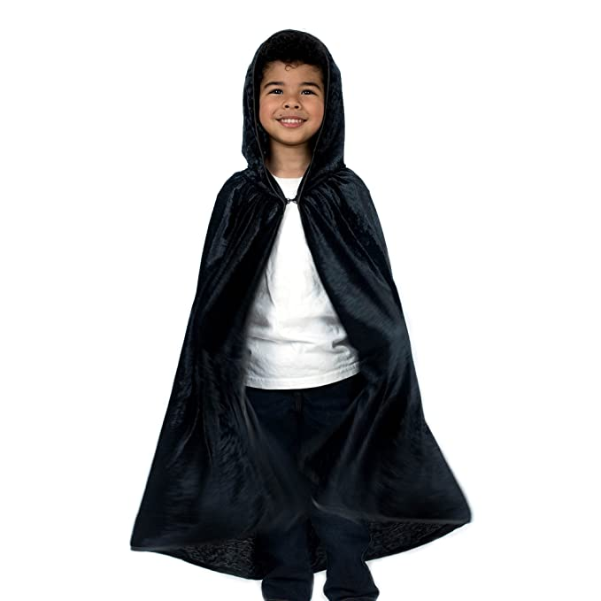 Amazon.com  Kids Cosplay Hooded Cloak Cape - Black  Clothing d6d747e0b