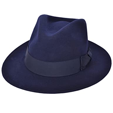 6c2acab22eb3fd High Quality Crushable Hand Made Gents Indiana 100% Wool Felt Fedora Trilby  Hat With Wide