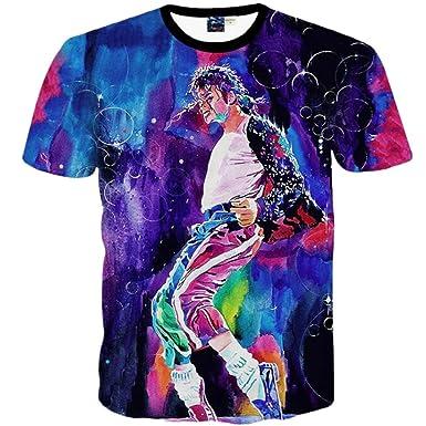 6e979166 Big Boys Girls Youth Fashion 3D T Shirt Michael Jackson MJ Print Tops