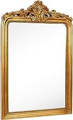 Hamilton Hills Top Gold Baroque Wall Mirror | Rich Old World