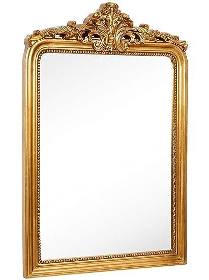 Amazon.com: Hamilton Hills Top Gold Baroque Wall Mirror   Rich Old ...