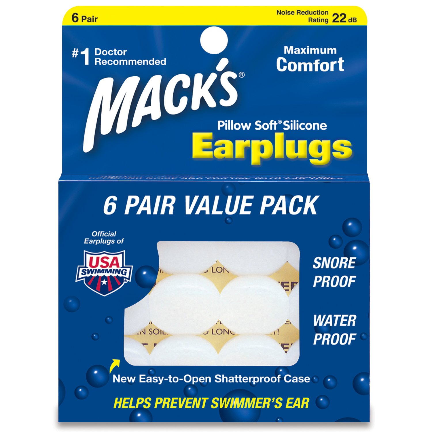 Mack's Pillow Soft Silicone Earplugs Value Pack, 6