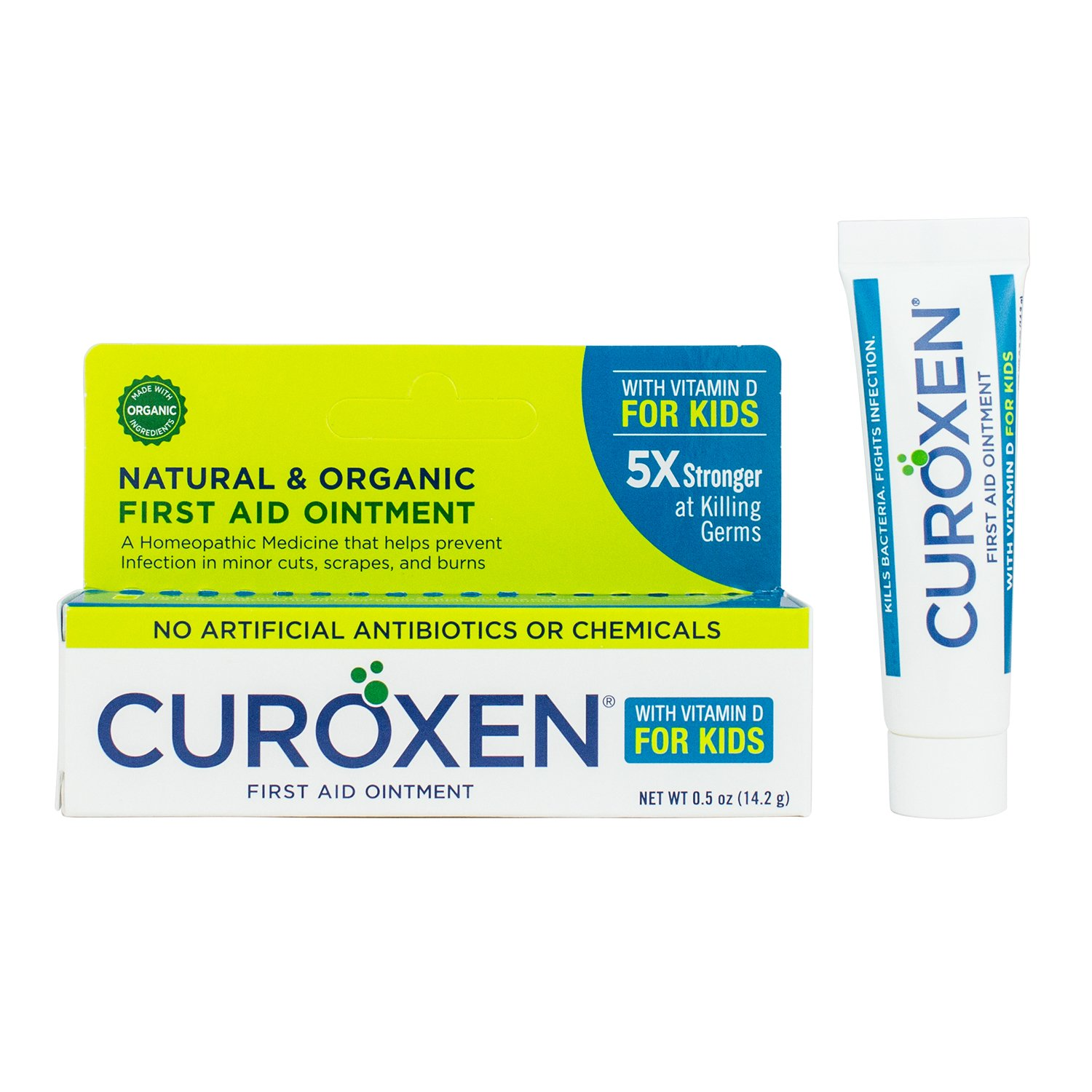 CUROXEN All-Natural & Organic First Aid Ointment for Kids with Vitamin D