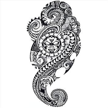 Tatuajes temporales maoríes de religión divinta, para hombre y ...