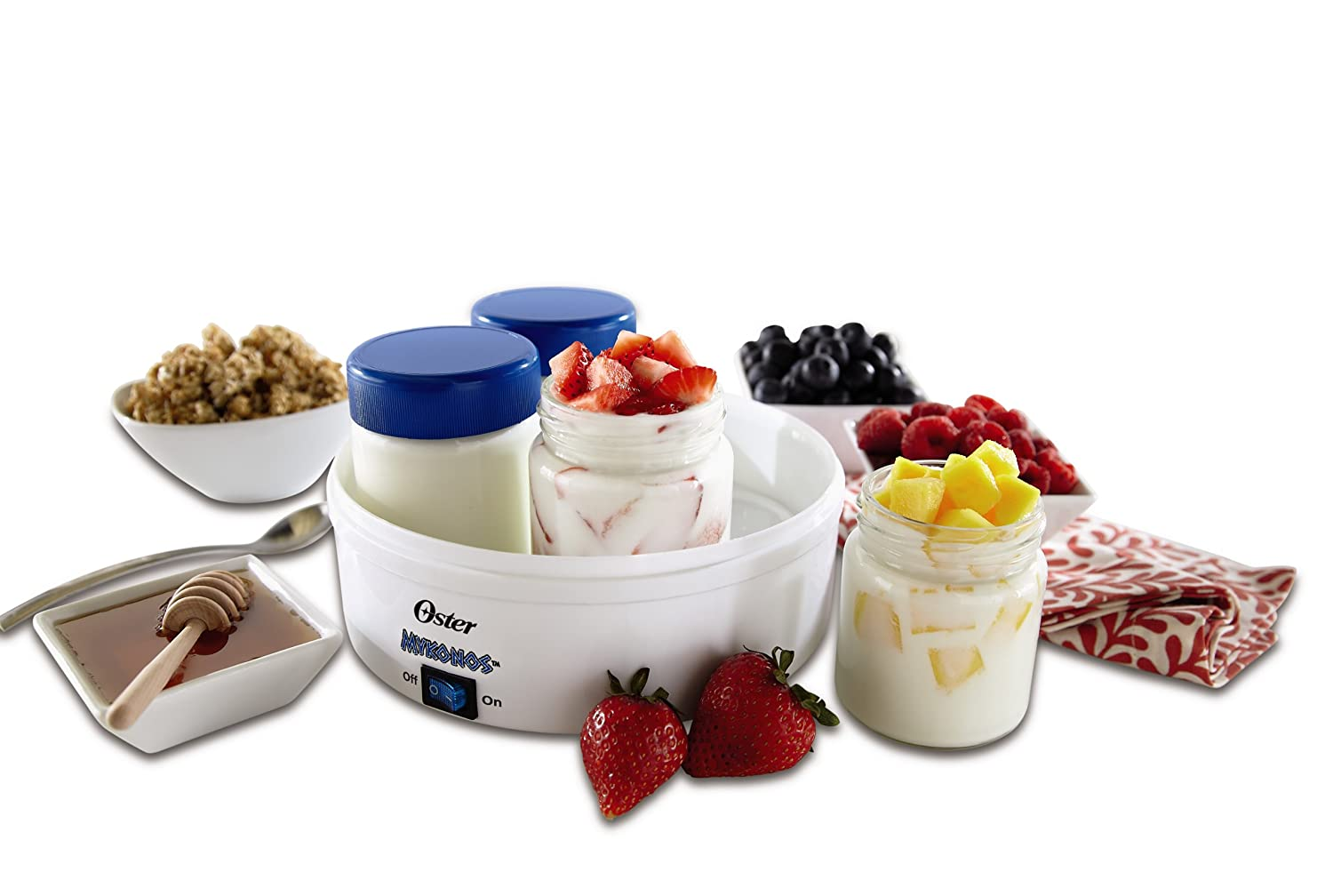 Oster CKSTYM1001 Mykonos Greek Manual Yogurt Maker, 1-Quart