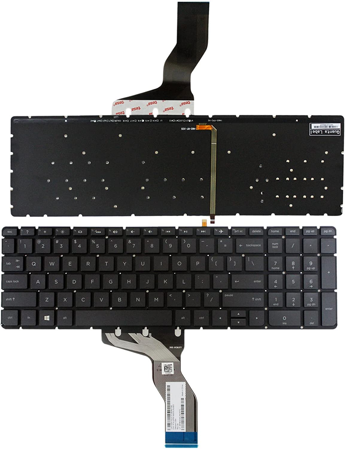 Without Palmrest Givwizd Replacement Backlit Keyboard for HP Pavilion 15-p037ne 15-p038na 15-p038ne 15-p039tx 15-p040ne 15-p040nl 15-p040tx 15-p041tx 15-p042nd 15-p043ax 15-p043na 15-p045nd