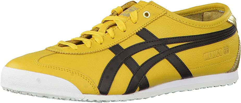 asics onitsuka tiger mexico 66 black yellow zone shoes