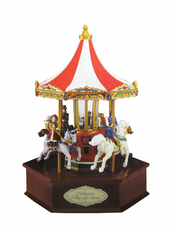 超大特価 Mr。クリスマスゴールドラベルMillennium B017KYY96Y Round Merry Go Animated Round Musical Animated B017KYY96Y, シルエット:f2d6d0b5 --- arcego.dominiotemporario.com
