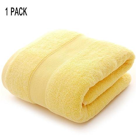 BATOWE Toallas de baño de algodón 1pc para baño SPA Toallas de baño de Felpa Absorbente