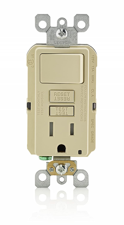 leviton t5625 wiring diagram leviton image wiring leviton gfsw1 w self test smartlockpro slim gfci combination on leviton t5625 wiring diagram