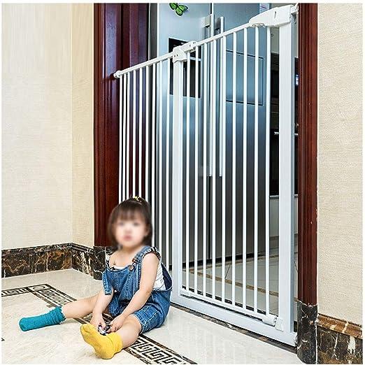 ZEMIN Barrera De Seguridad Escalera Puerta for Niños Perros El 110CM Aumento Proteccion Cerrado Automático Multi-tamaño (Color : White-h 110cm, Size : 239-249cm): Amazon.es: Hogar