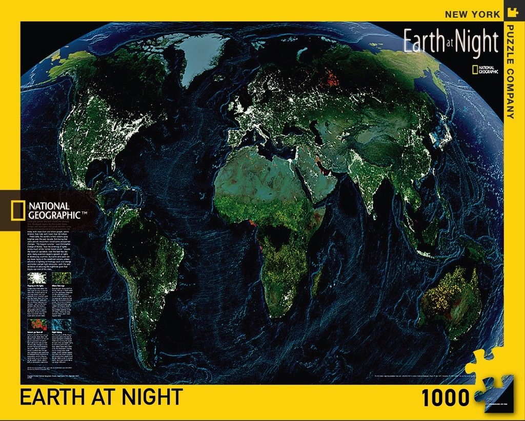Geographic Map Of Earth.Amazon Com New York Puzzle Company National Geographic Earth At