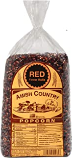 product image for Amish Country Popcorn | 2 lb Bag | Red Popcorn Kernels | Old Fashioned with Recipe Guide (Red - 2 lb Bag)