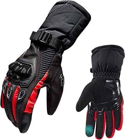 TRILINK Guantes para Moto de Invierno para Hombre y Mujer - Táctiles, Resistentes al Frío, Impermeables para Escalada, Senderismo y otros Deportes ...