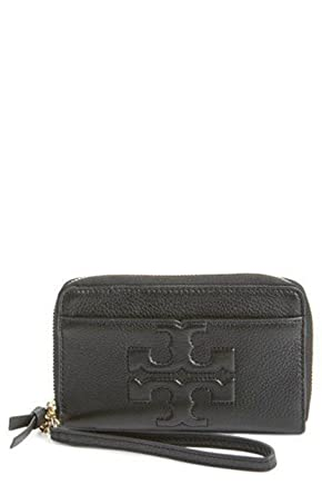 2d12743673d78 Amazon.com  Tory Burch Bombe T Smartphone Wristlet Leather Women s ...