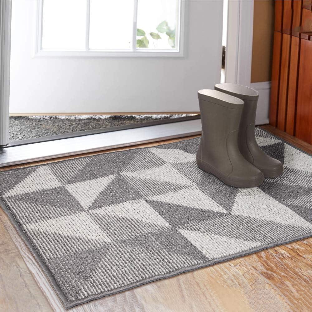 80cm X 120cm Indoor Doormat 80cm X 120cm Absorbent Front Back Door Mat Floor Mats Rubber Backing Non Slip Door Mats Inside Mud Dirt Trapper Entrance Front Door Rug