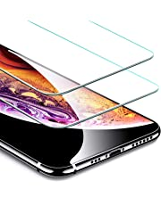 "ESR Tempered Glass for iPhone XS Screen Protector/iPhone X Screen Protector [2 Pack] [Free Installation Frame] [Case-Friendly], Premium Tempered Glass Screen Protector for 5.8"" iPhone XS/X"