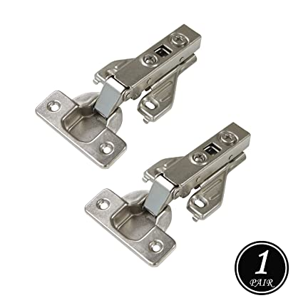 Soft Close Kitchen Cabinet Hinges, 105 Degree Opening Angle Full Overly  Clip On Face Frame Mounting Concealed Hinges, Satin Nickel Heavy Duty  Cabinet ...