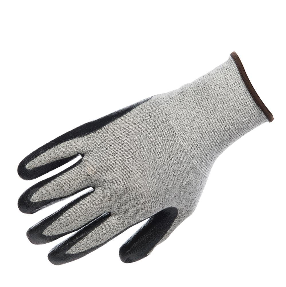 Handling physical work labor insurance professional anti-cutting gloves wear elastic breathable protective tool non-slip oil resistant nitrile / 3 double by LIXIANG (Image #2)