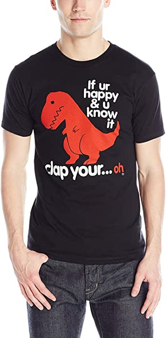Goodie Two Sleeves Men's Clap Your Oh Sad T-Rex T-Shirt