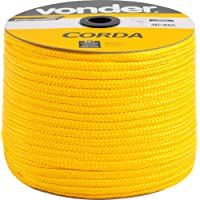 Corda Multifilamento Trançada 10 X 190 M, Amarela, Em Carretel, Vonder Vdo2920 Vonder