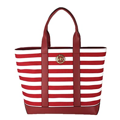 309a92ce5cdff Michael Kors Fulton Striped Canvas Large Tote