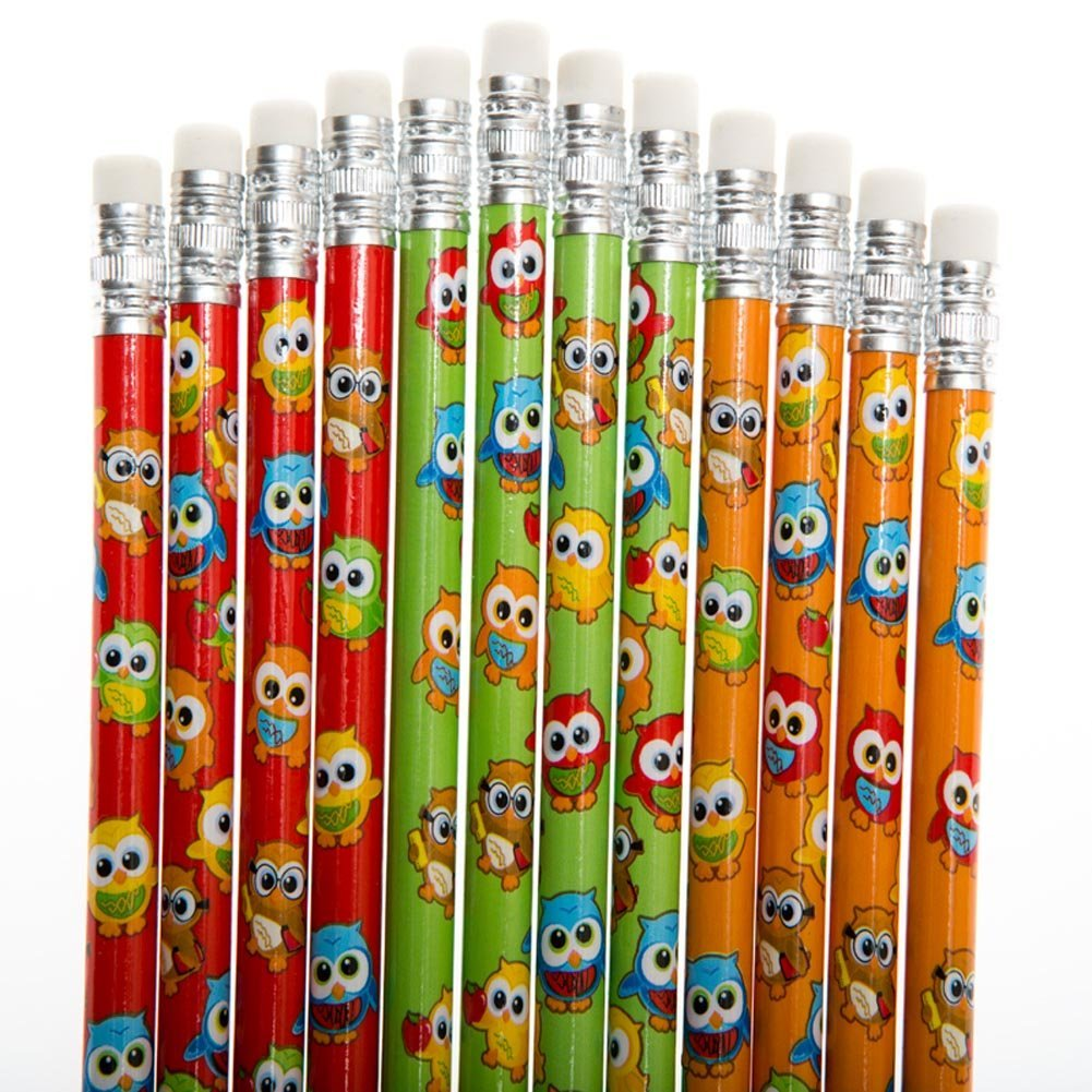owl pencils classroom set of 24