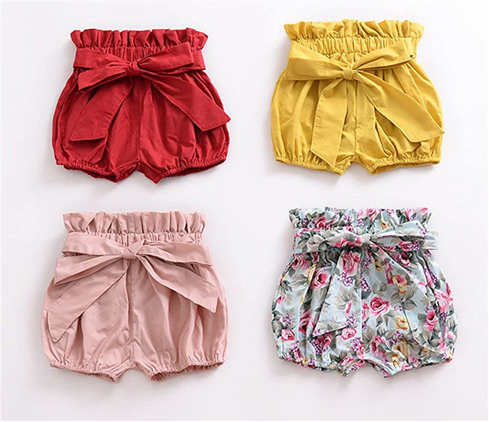 LOOLY Baby Girls Bowknot Bloomers Kids Ruffle Bubble Shorts LOOLYTZ00344