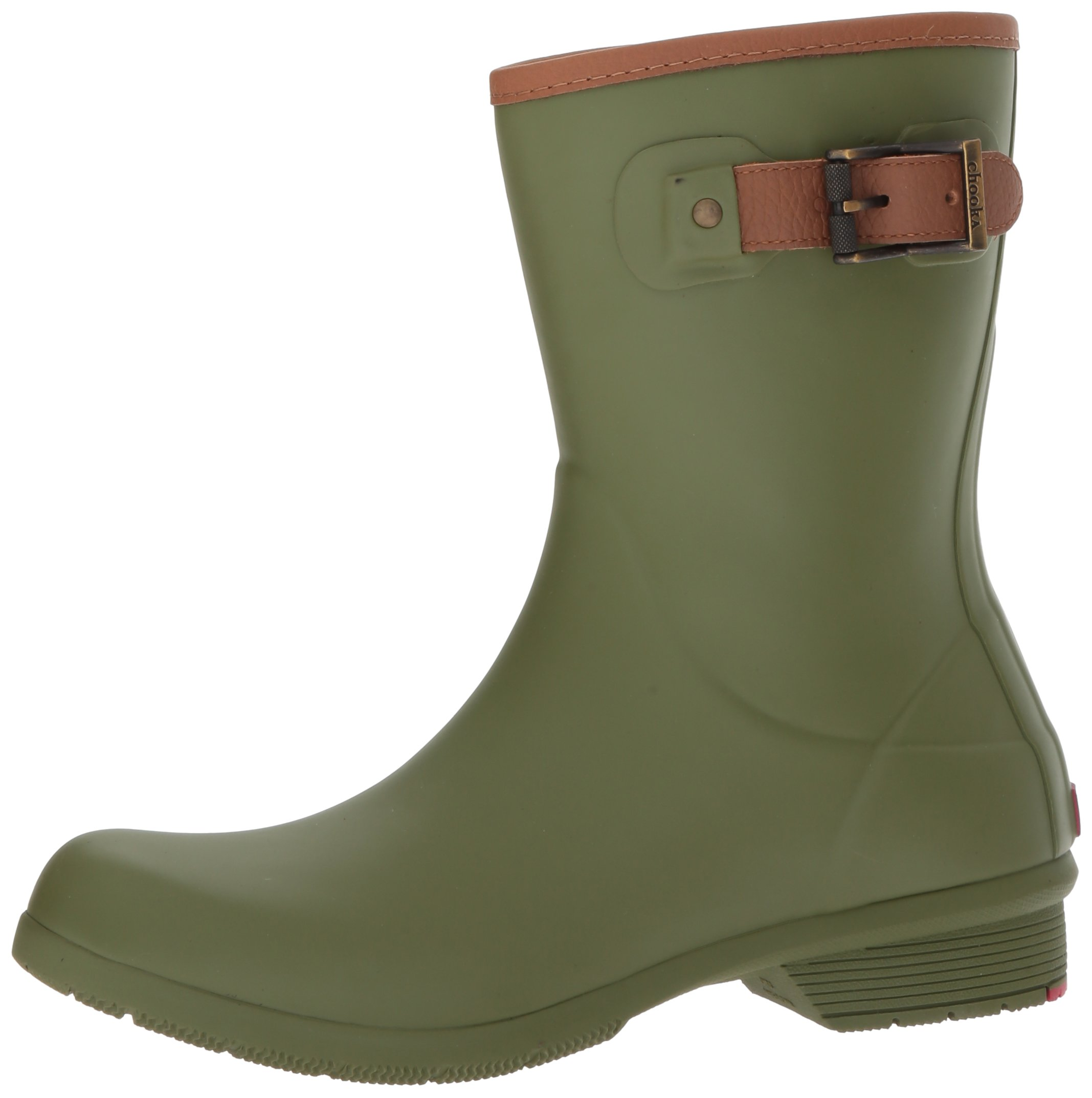 Chooka Women's Mid-Height Memory Foam Rain Boot, Olive, 9 M US by Chooka (Image #5)