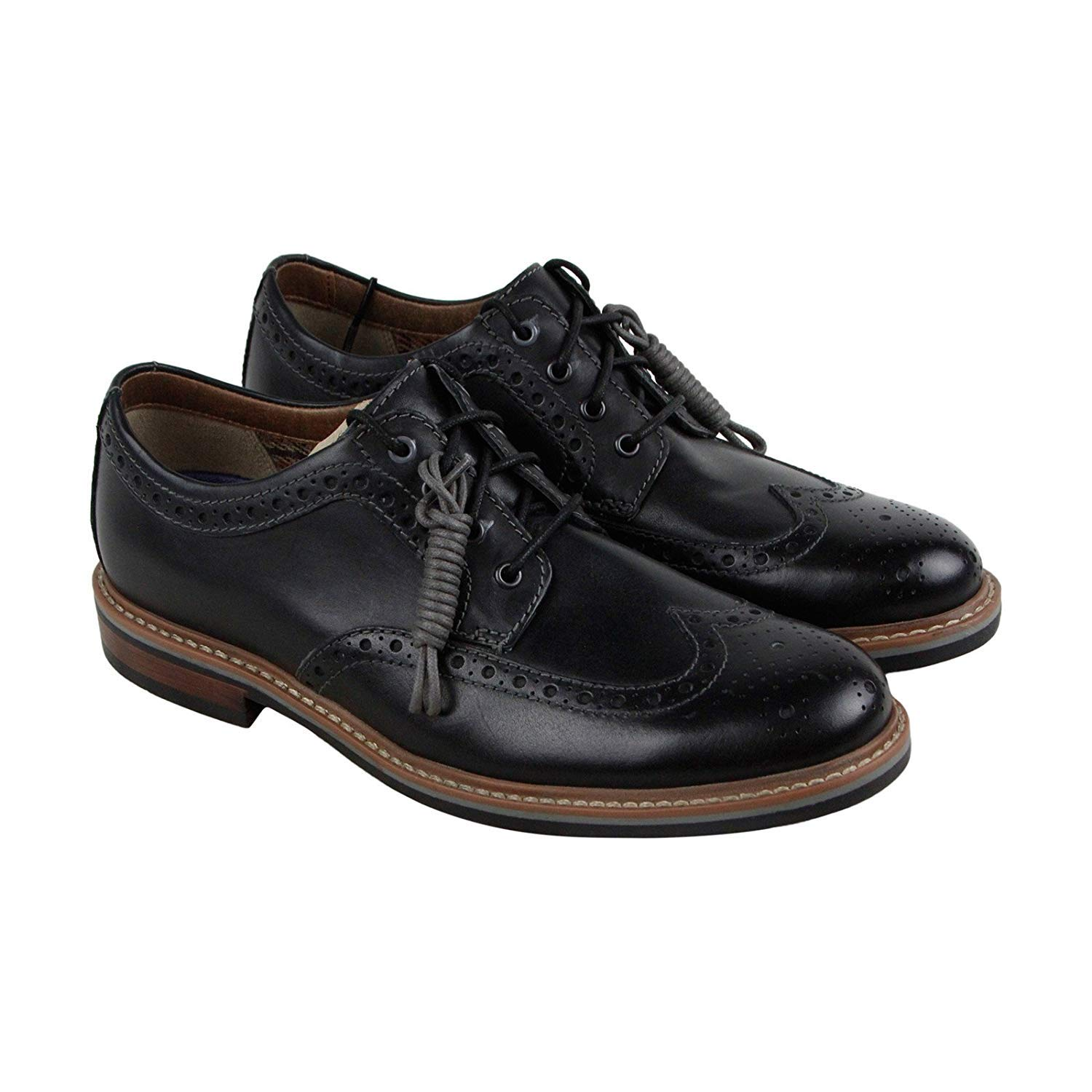 f25532806ea98 Amazon.com | CLARKS Men's Armon Wing Black (9.5) | Oxfords