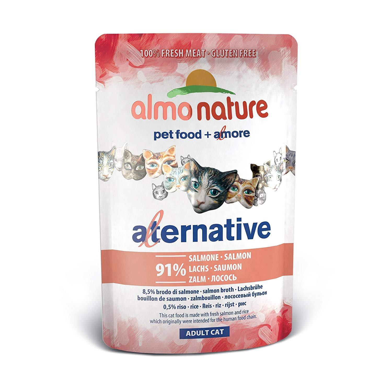 ALMO NATURE Alternativas a 55gr de salmón - Comida mojado de gatos: Amazon.es: Productos para mascotas