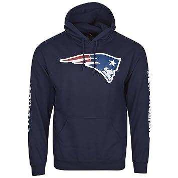 NFL New England Patriots Football Sudadera con Capucha Sudadera con Capucha suéter para Solid Enough, Hombre, Azul, Large: Amazon.es: Deportes y aire libre