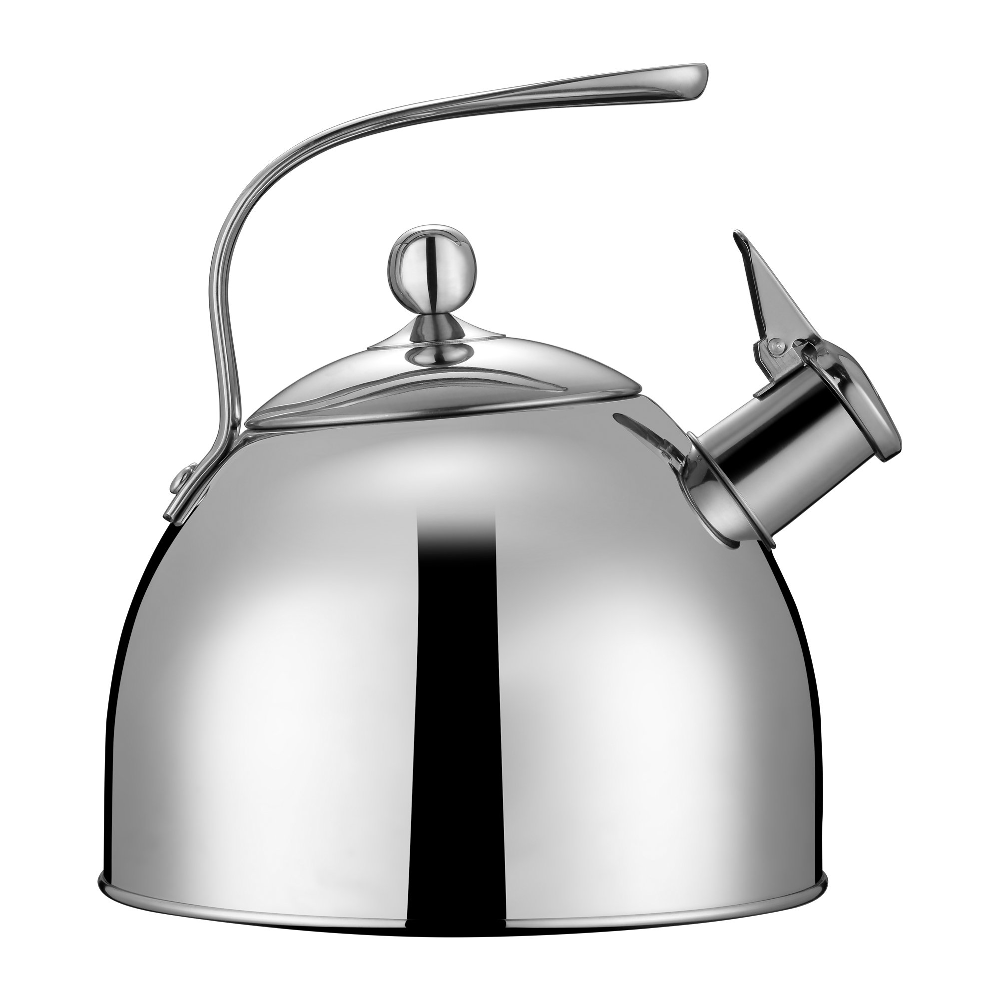 Injoy Whistling Tea Kettle 304 Stainless Steel Teapot Classic Cookware in LFGB/FDA Standard for All Stovetops - 1  Insulation Pad Included, 2.64 Quart/2.5 L, Silver