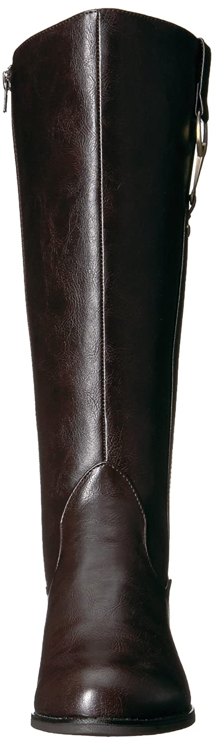 LifeStride Women's Sikora-Wc Riding Boot B07328432P 6 W US|Dark Brown