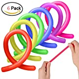 ADHD Fidget Toys,Autism Stress Anxiety Relief Sensory Fiddle Toys Stretchy String Eholder Set of 6 for Relaxing Calming Adult Men or Women,Boys & Girls Kids with OCD,ADD