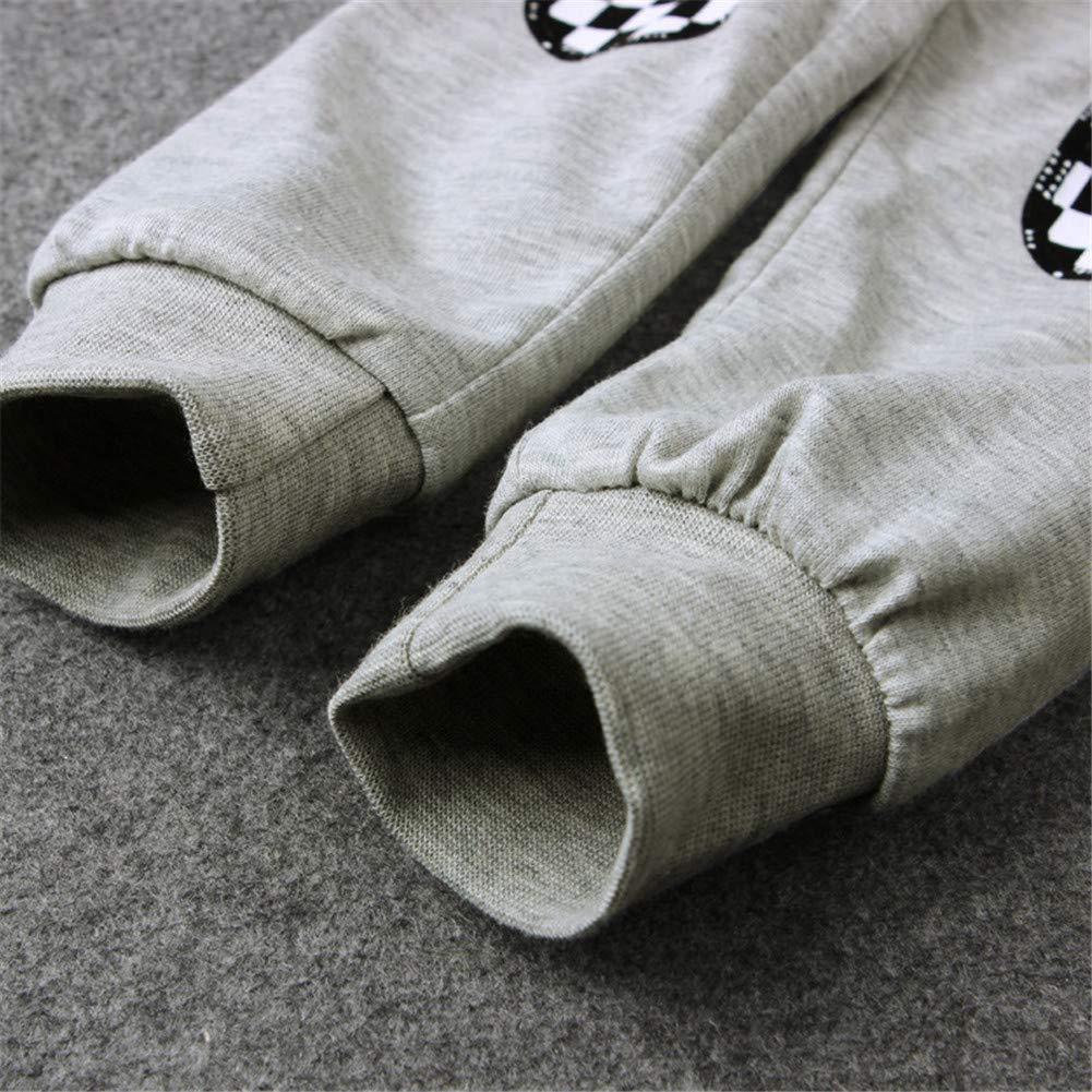 Pajamas Set Long Sleeve Racing Car Theme Top and Pants for Toddler Boy