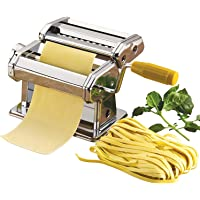 Proton 3 in 1 Stainless Steel Pasta Maker Noodle Making Dough Roller Cutter Machine Hand Crank and Clamp for Spaghetti and Lasagna Tagliatelle Fettuccine