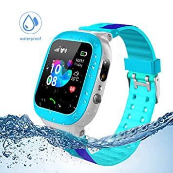 Jslai Niños Smartwatch Imprägniern,Inteligente Relojes Telefono, LBS Tracker de Alarma SOS Infantil Relojes de Pulsera Cámara Reloj móvil Mejor Regalo ...