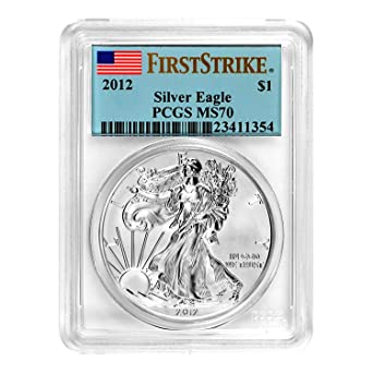 AMERICAN SILVER EAGLE $1 FIRST STRIKE Struck at West Point PCGS MS70 W 2012-