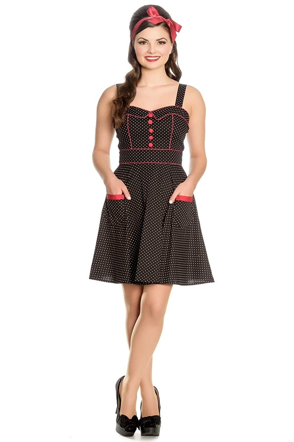 Hell Bunny Vanity Pinup Polka Dot Short Mini Dress