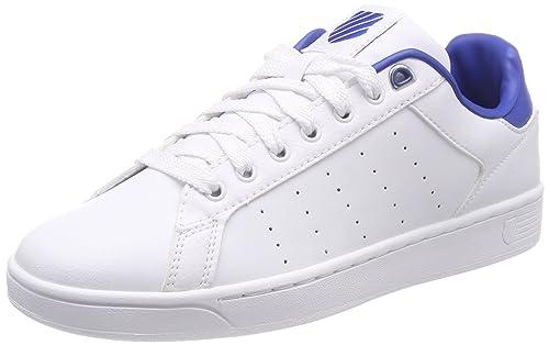 K-Swiss Clean Court CMF, Zapatillas para Hombre, Blanco (White/Classic Blue/White), 45 EU