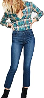 product image for MOTHER Women's The Insider Crop Bootcut Jeans in Twilight Magic Size 28