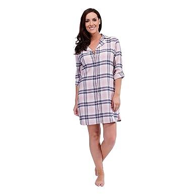 Tom Franks Ladies Flannel Check Button Through Nightdress Nighty PJ Pyjamas  Nightwear New  Amazon.co.uk  Clothing 7635515f8