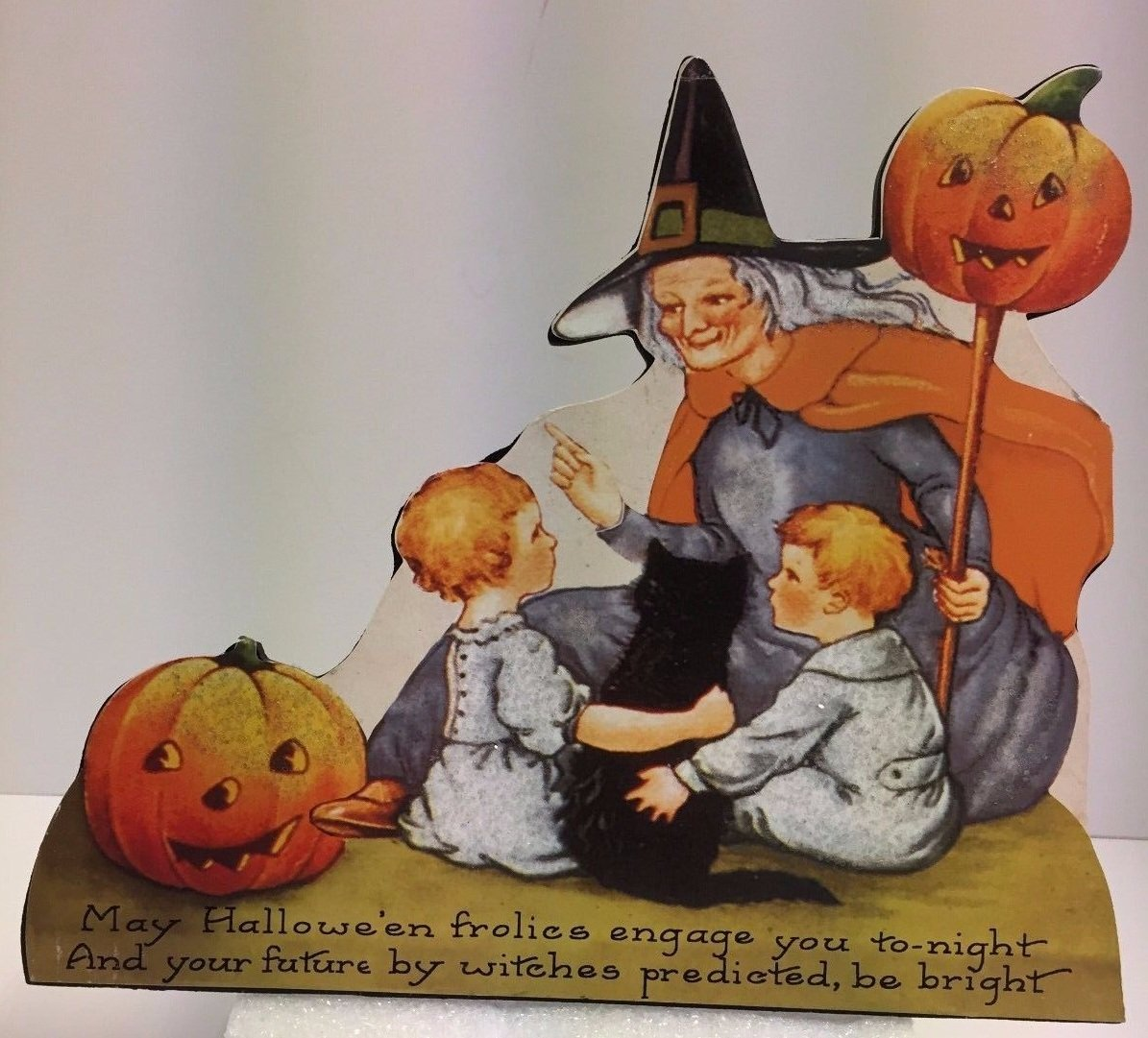 Happy Halloween Wood Dummy Boards Children Set of 3 Bethany Lowe New