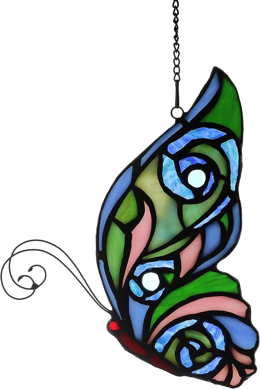 Yaloyi Tiffany Style Butterfly Stained Glass Windows hangings Suncatchers for Window