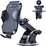 VICSEED Universal Cell Phone Holder for Car Phone Mount Car Phone Holder Dashboard Windshield Air Vent Long Arm Strong Suctio