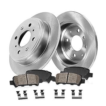 Rear Kit-2 OEM Replacement Disc Brake Rotors 4 Ceramic Pads-4lug Brake Kits